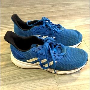 Boy's Blue and White Low top Adidas Sneakers